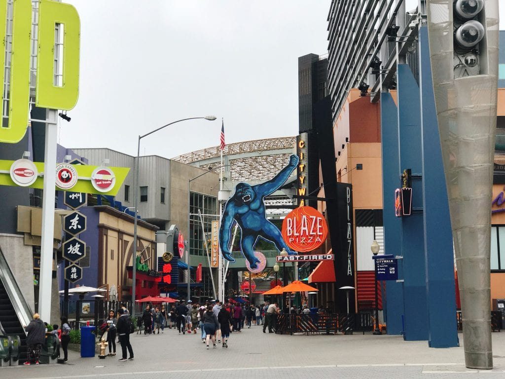 A view of Universal CityWalk at Universal Studios Hollywood.