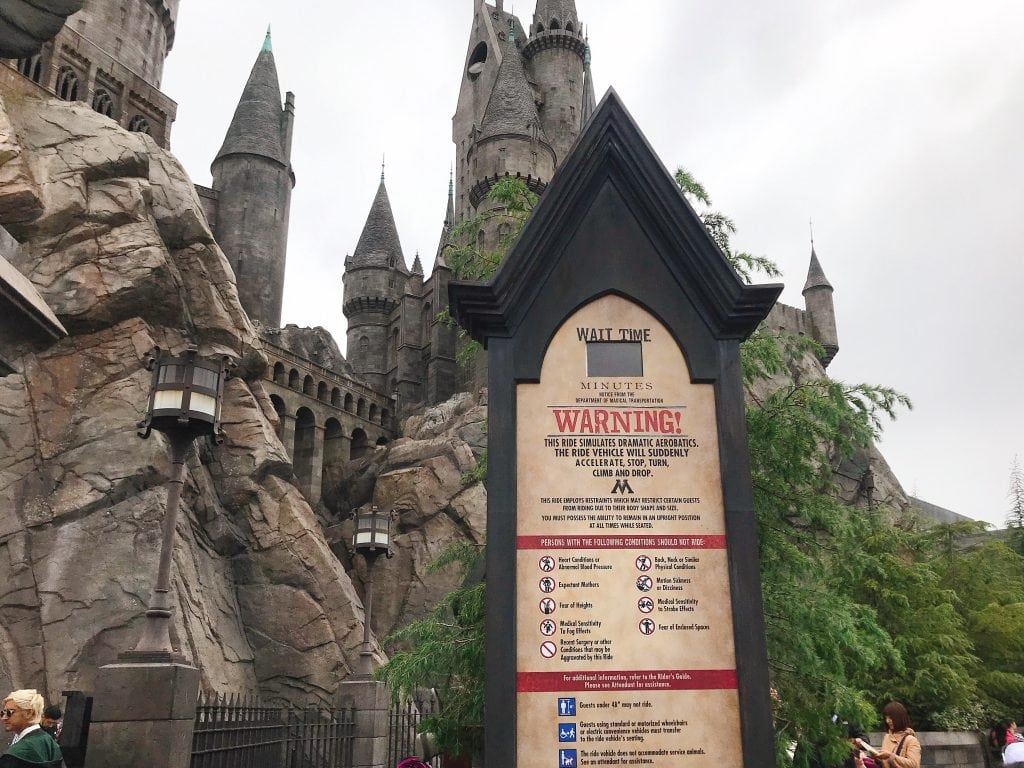 "The entrance of ""Harry Potter and the Forbidden Journey"" attraction at the Wizarding World of Harry Potter at Universal Studios Hollywood"