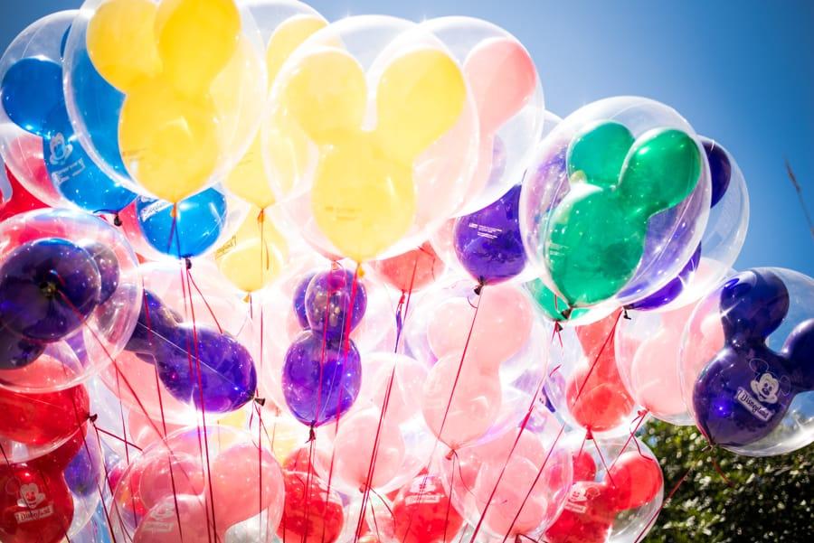 Mickey Mouse Balloons at Disneyland