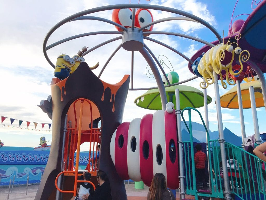 A playground in Super Silly Fun Land at Universal Studios Hollywood.
