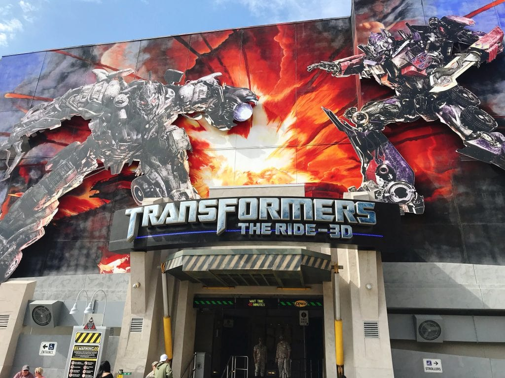 The entrance of Transformers: The Ride 3D