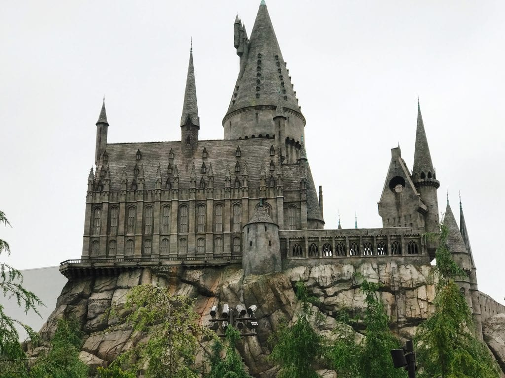 Hogwarts castle at Universal Studios Hollywood.