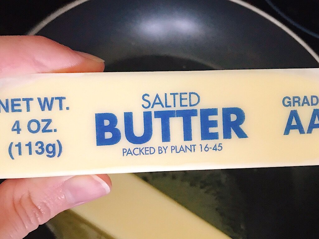A stick of salted butter.