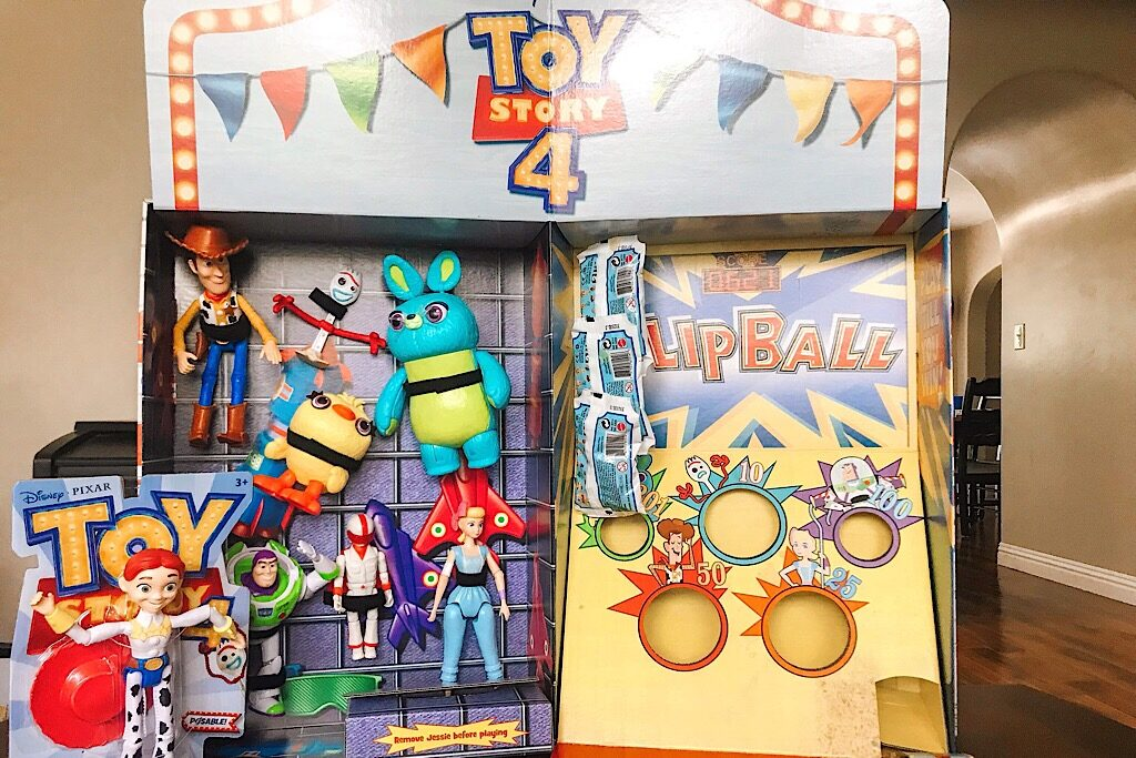 A display of Toy Story 4 toys