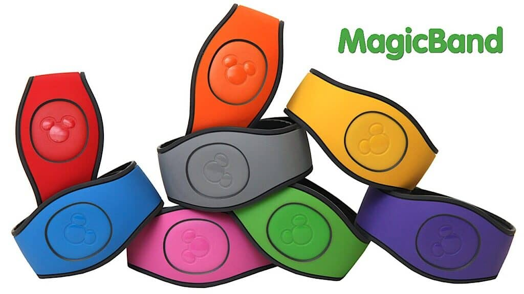 8 colors bracelets with Mickey Mouse Heads called Magic Bands