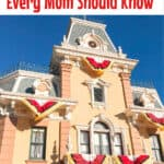 Text 9 Disneyland Tips Every Mom Should Know over a picture of Main Street at Disneyland