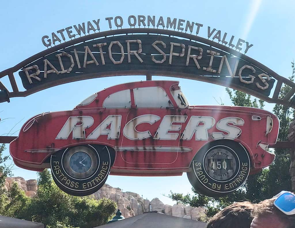 Radiator Springs Racers at Cars Land