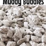 "Text ""Original Muddy Buddies"" over a picture of muddy buddies."