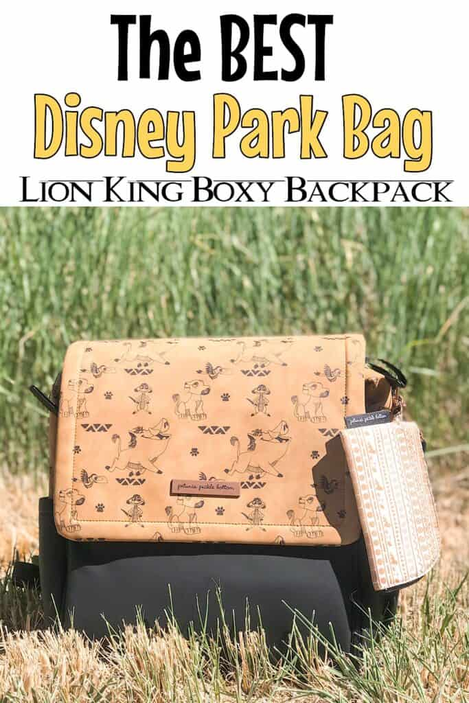 "Text ""The Best Disney Park Bag"" Lion King Boxy Backpack"