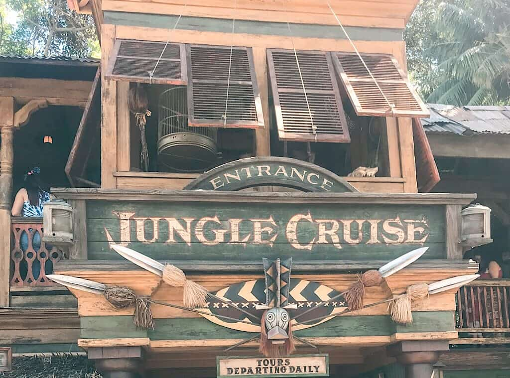 The Jungle Cruise entrance at Disneyland