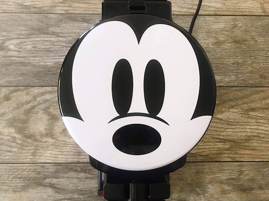 A waffle iron with Mickey's face.