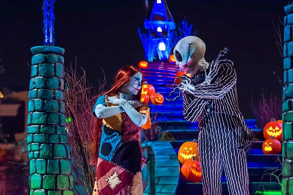 Jack Skellington and Sally at Disneyland Halloween Time