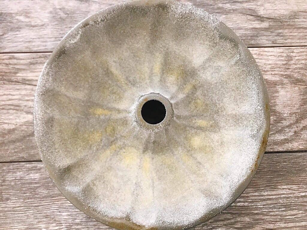 Floured bundt pan