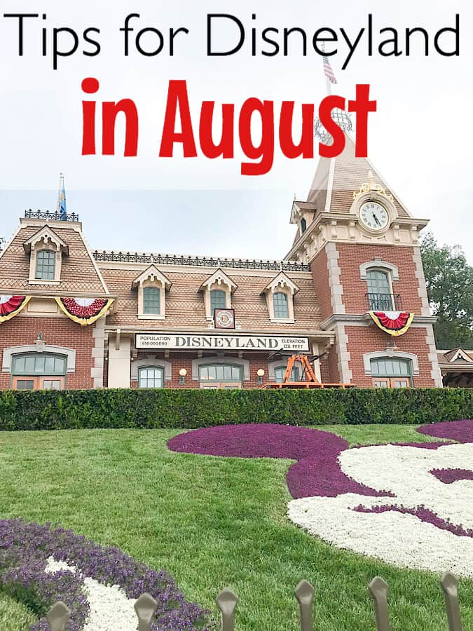 Disneyland train station in August