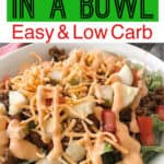 Cheeseburger in a Bowl Easy and Low Carb