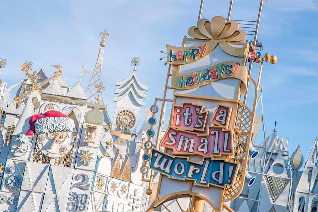 it's a small world Holiday at Disneyland