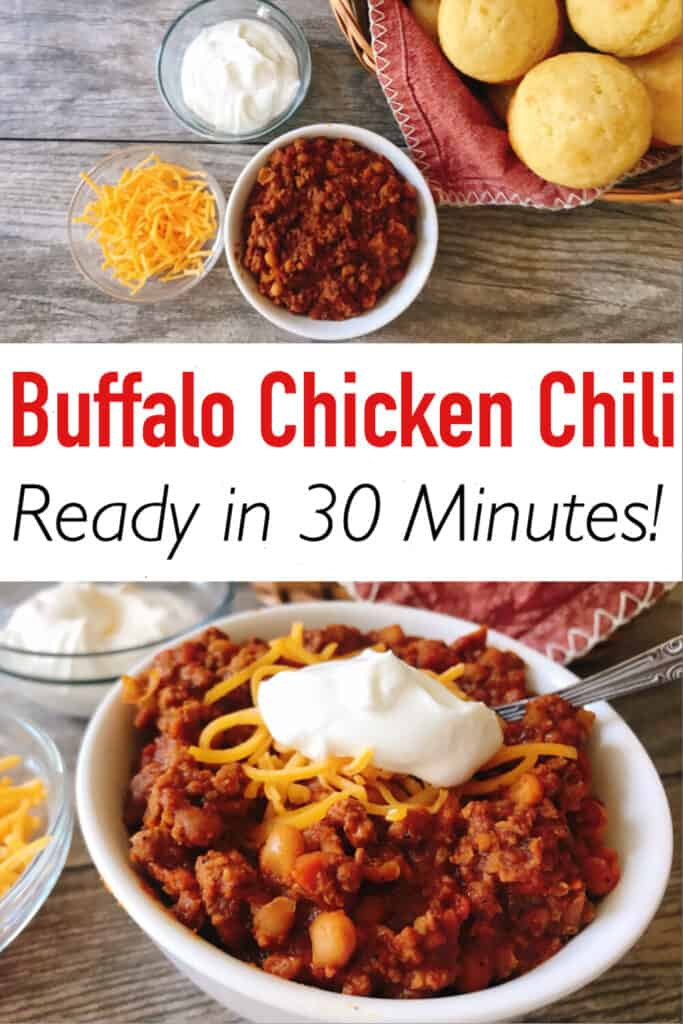 Buffalo Chicken Chili Ready in 30 Minutes!