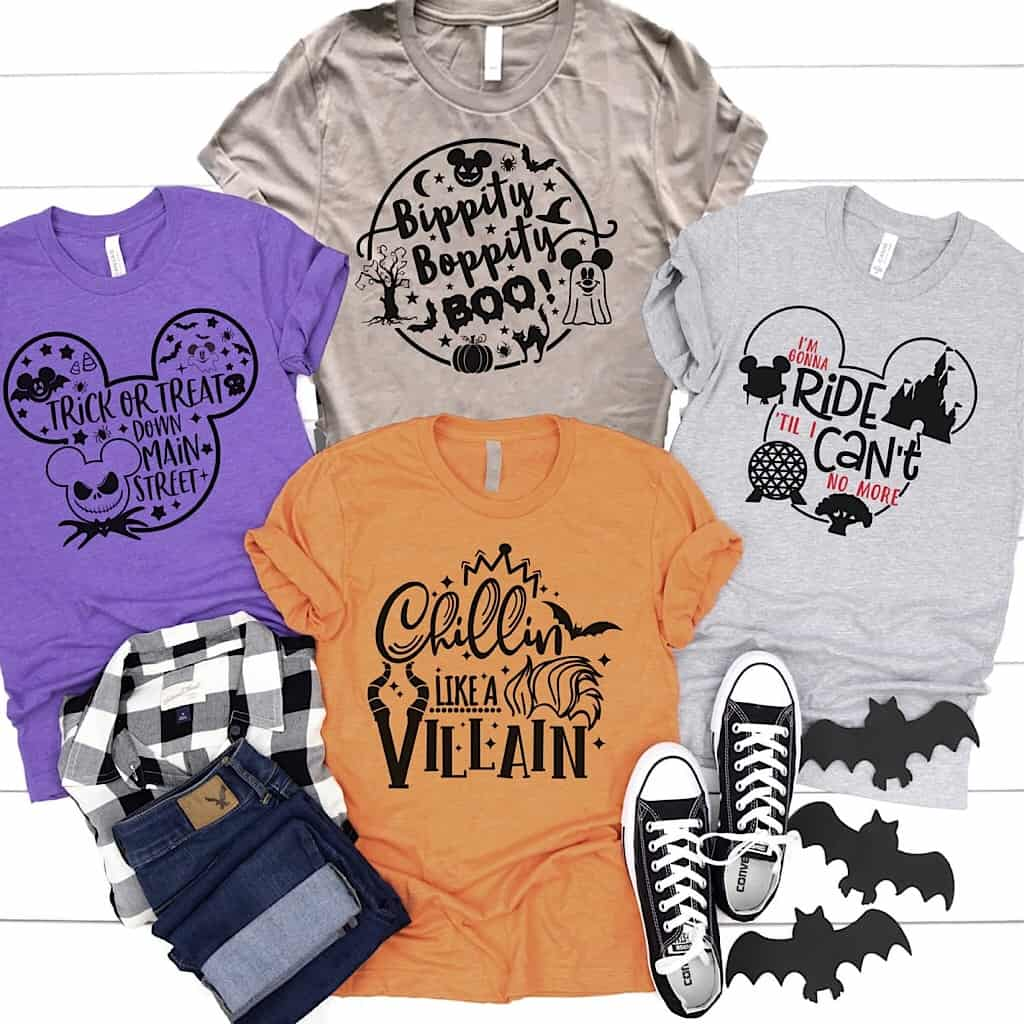 Cute Halloween Disney-Themed shirts