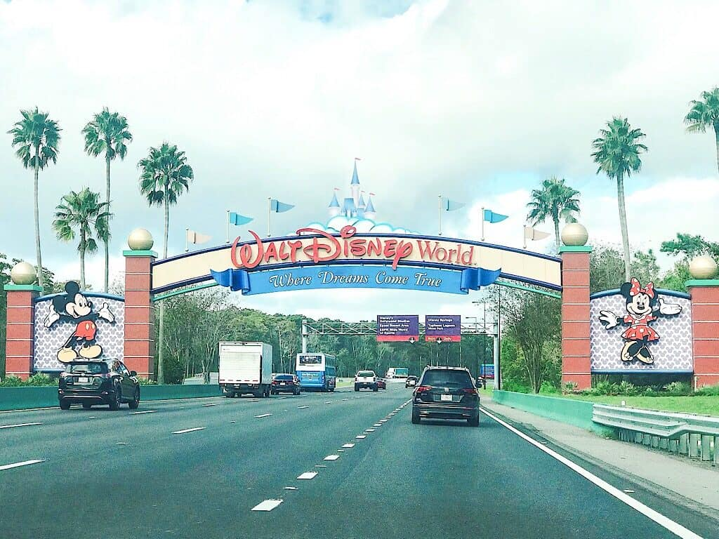 Entrance Sign to Disney World in September