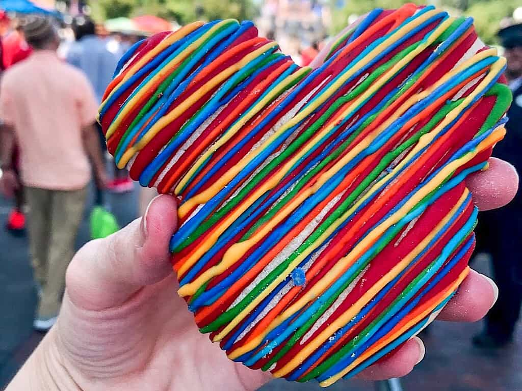 A colorful Mickey Mouse Sugar Cookie from Disneyland