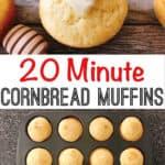 20 Minute Cornbread Muffins