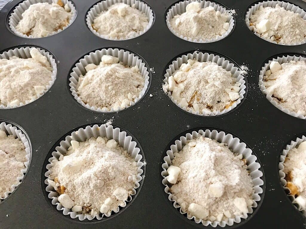 Streusel topped muffins