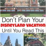 Don't Plan Your Disneyland Vacation Until You Read This