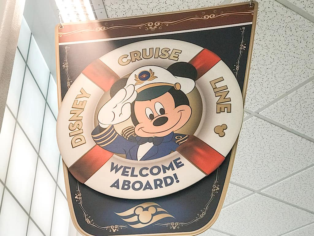 Disney Cruise Welcome Flag