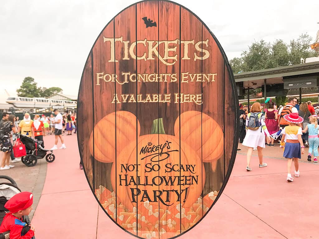 Picture of Mickey's Not So Scary Halloween Party Ticket Sales