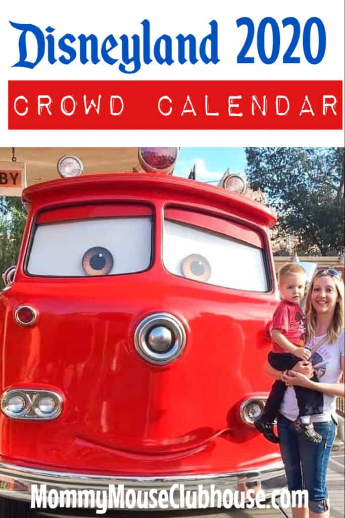 Disneyland 2020 Crowd Calendar
