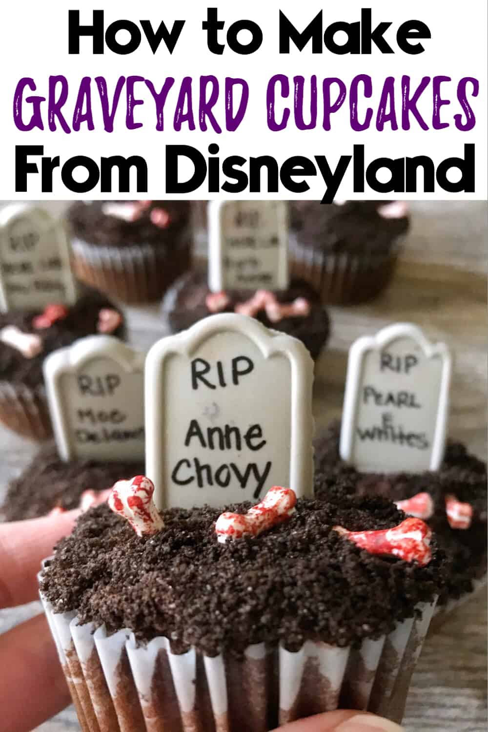 How to Make Graveyard Cupcakes from Disneyland