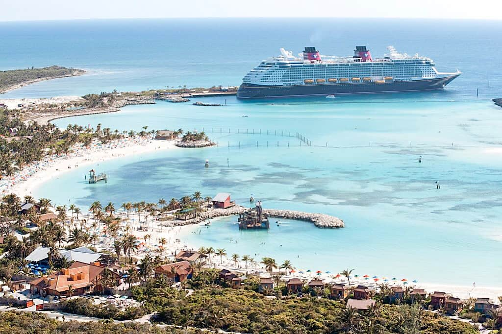 Disney Cruise Ship at Castaway Cay