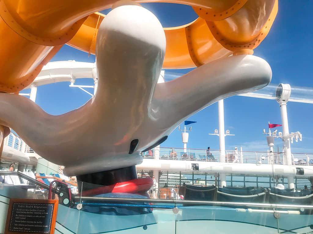 Waterslide on the Disney Cruise Line Fantasy Ship