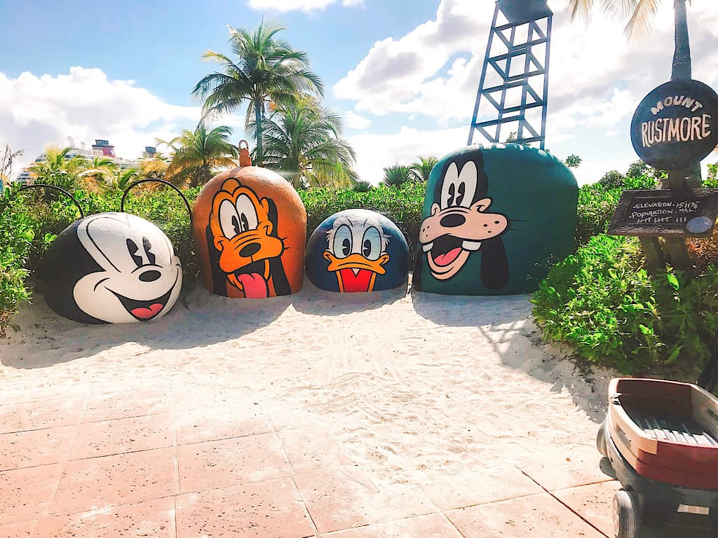 Mount Rushmore on Disney's Castaway Cay
