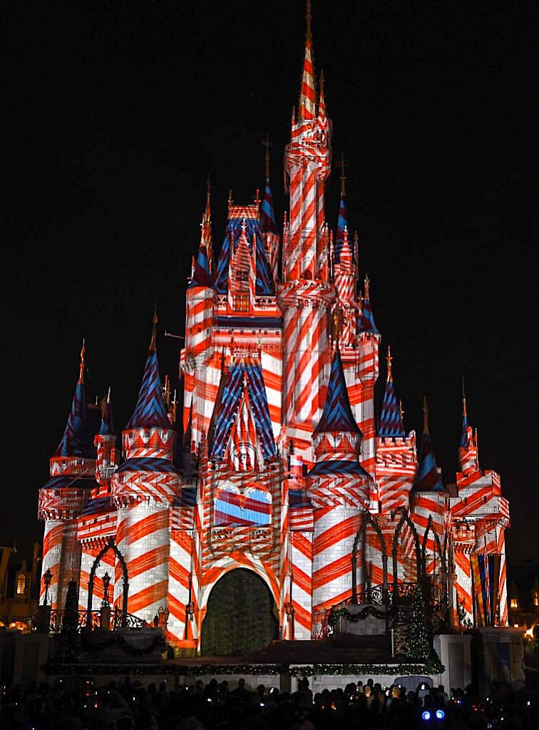 Cinderella's Castle at Disney World for the Holidays