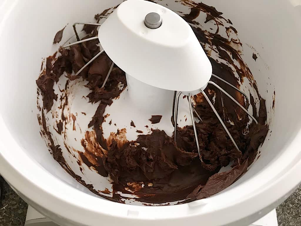 Whipped chocolate ganache