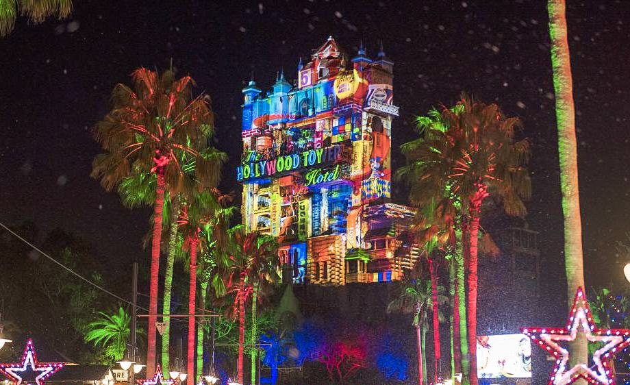 Tower of Terror during the Holidays