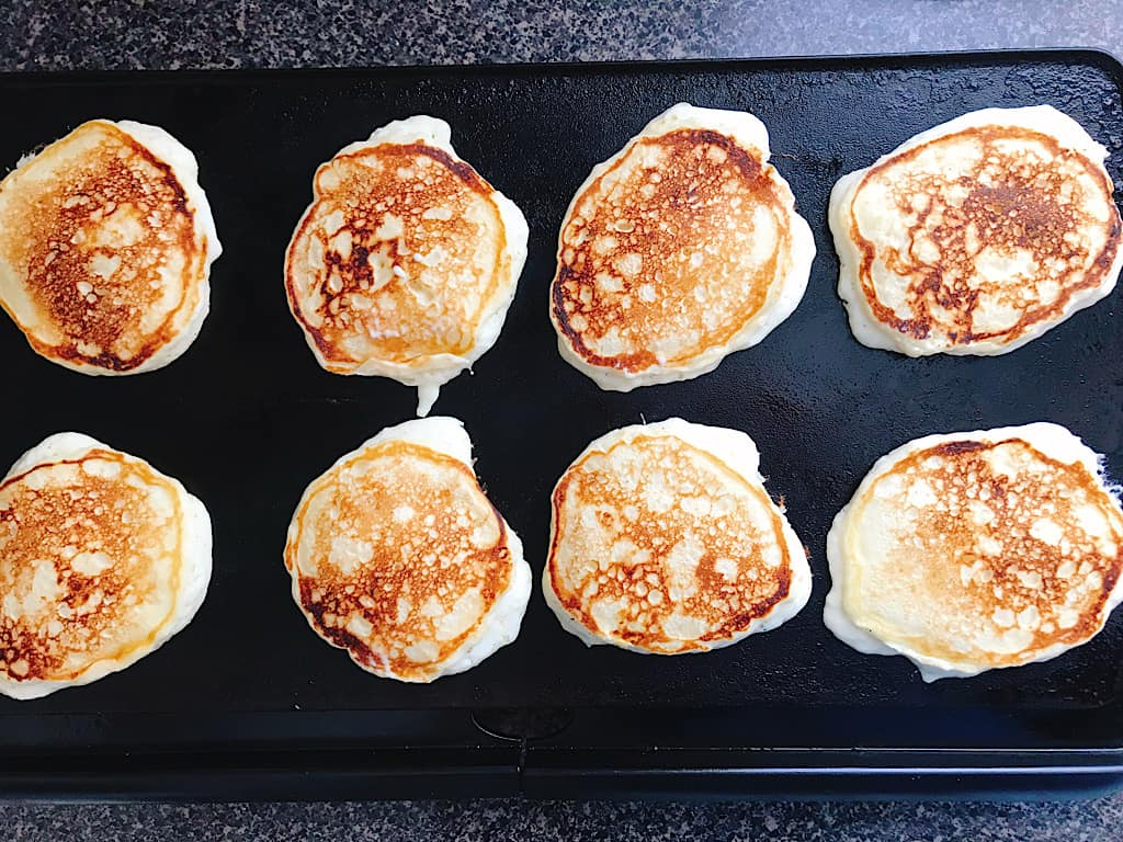 Buttermilk Pancakes on a griddle
