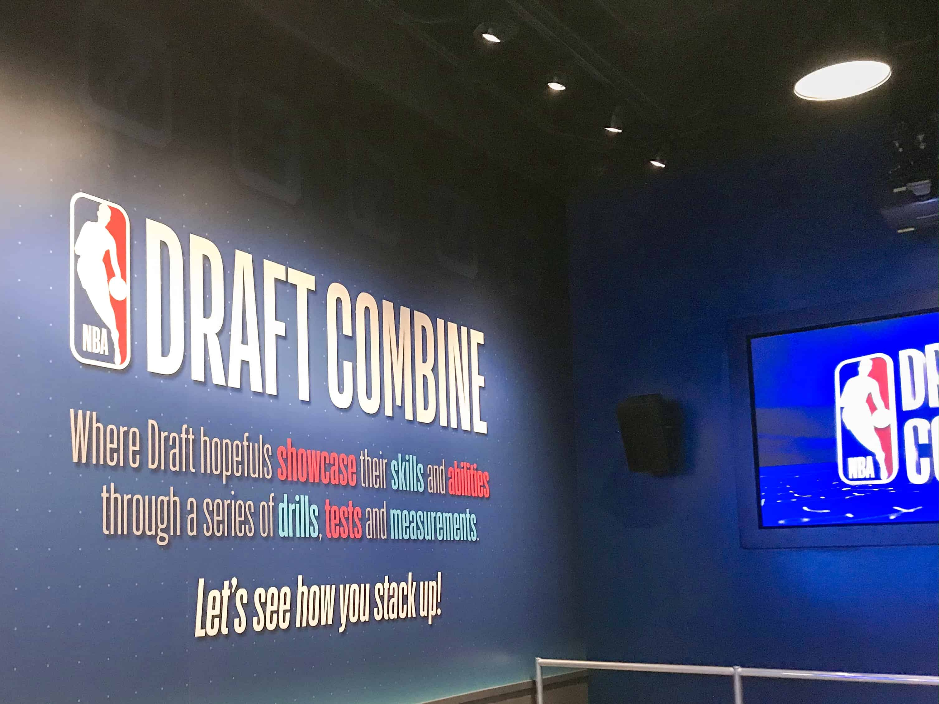 Draft Combine area at NBA Experience Disney Springs ,