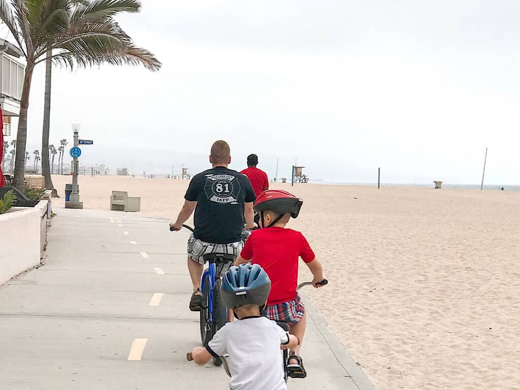 Biking on Newport Beach