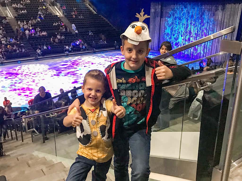 Two boys at Disney on Ice