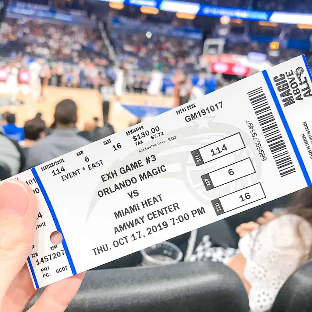 Orlando Magic Tickets at Amway Center