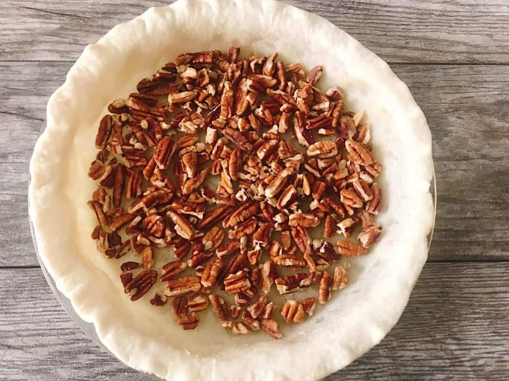 Pecans in a pie crust