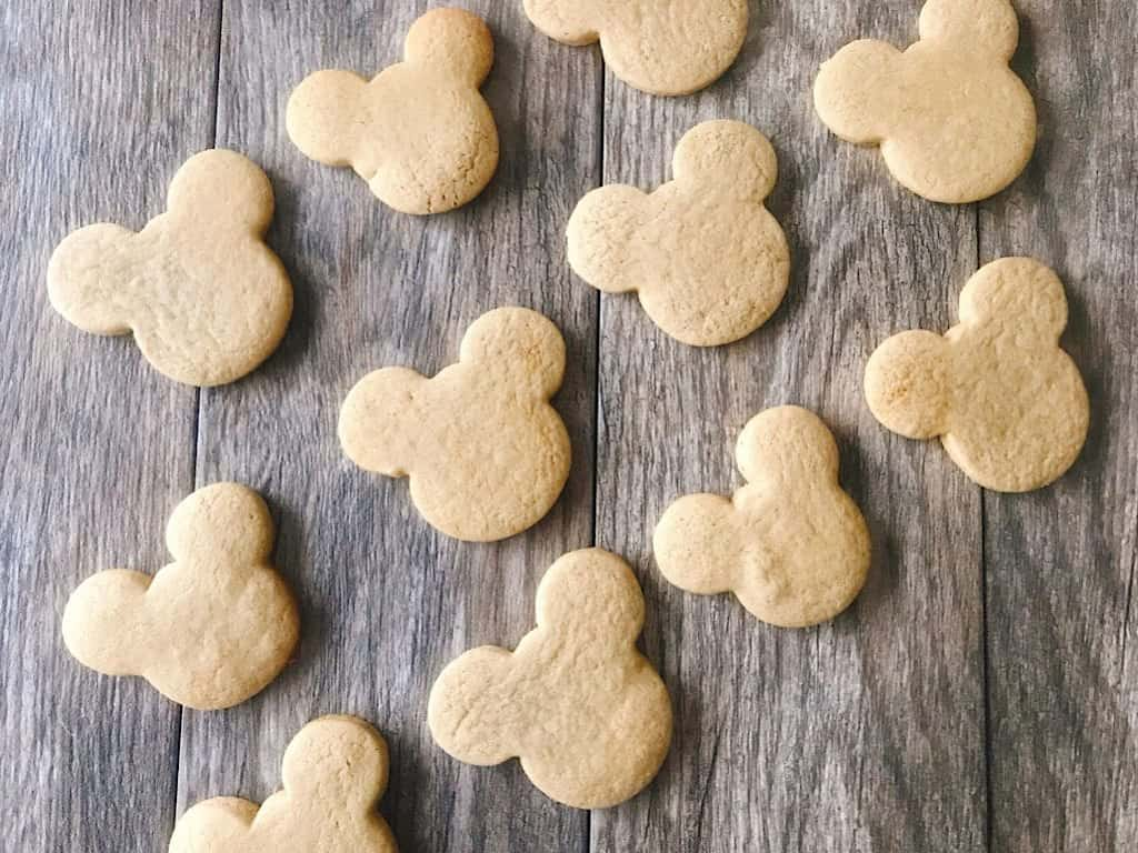 Un-frosted Mickey Mouse shaped Gingerbread Sugar Cookies