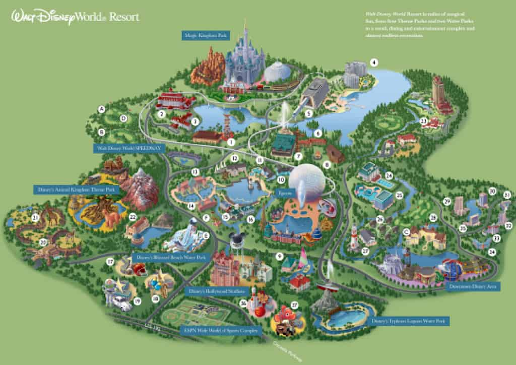 Map of Walt Disney World