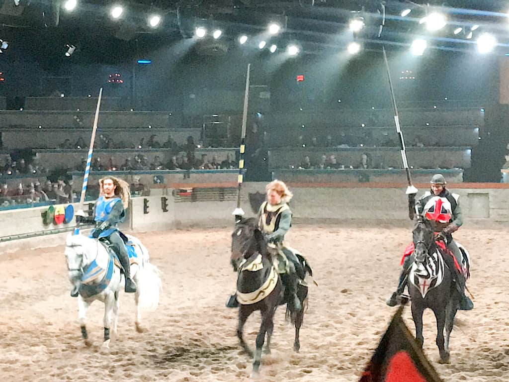 Knights on Horses at Medieval Times in Buena Park California