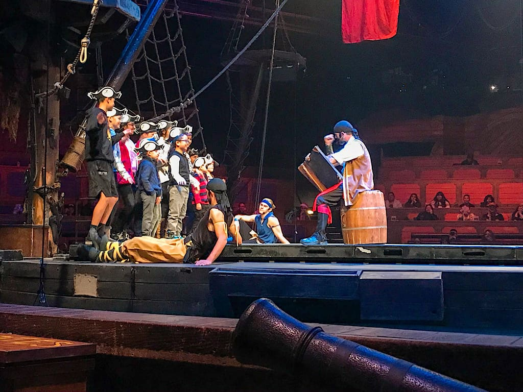 Kids helping in the show at Pirate's Dinner Adventure Buena Park, California