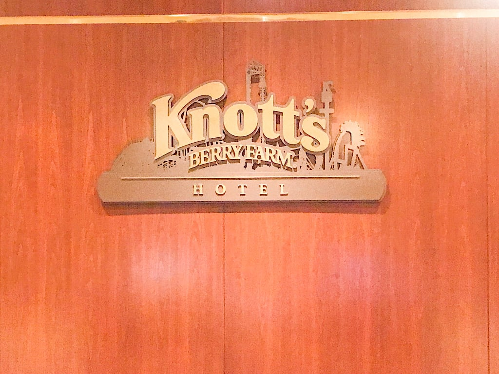 Front Desk of Knott's Berry Farm Hotel where to stay in Southern California