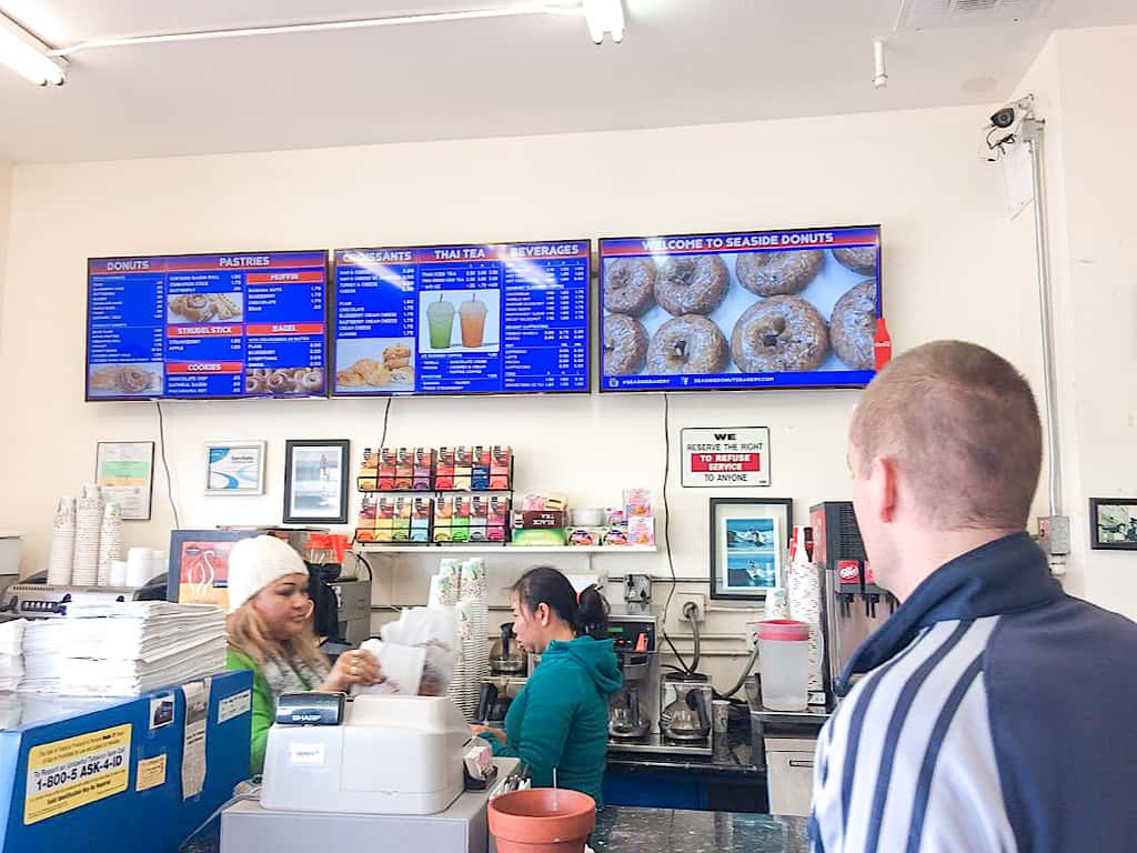 Inside Seaside Bakery in Newport Beach California