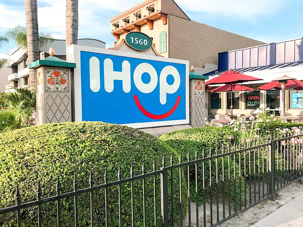 IHOP across the street from Disneyland